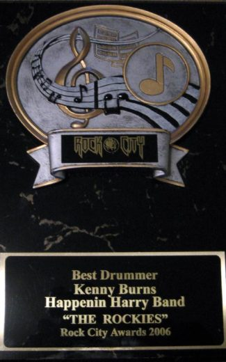 One of the years that Kenny won<br>Best Drummer of Los Aangeles