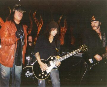 Kenny Burns filling in for Mickey Dee and playing with Lemmy and Phil Campbell of Motorhead on Phil's Birthday. Kenny was also in the movie Sunset Society with Lemmy.