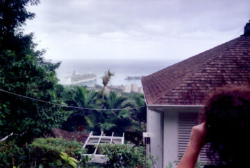 Another view of the harbor from Keith Richard's mansion (Point Of View) in Ocho Rios, Jamaica.